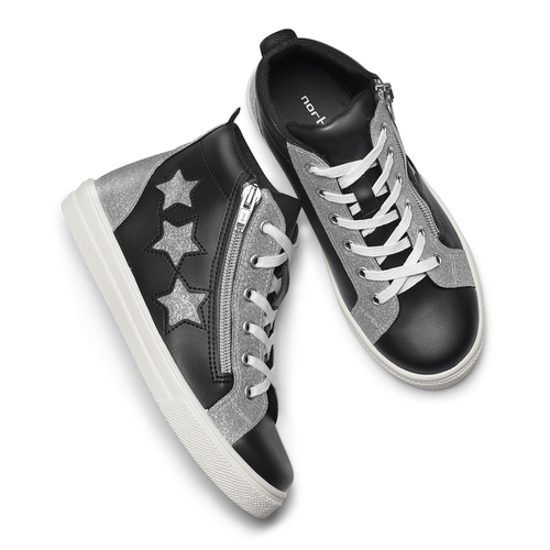 Sneakers alte con stelle north-star, nero, 324-6278 - 19