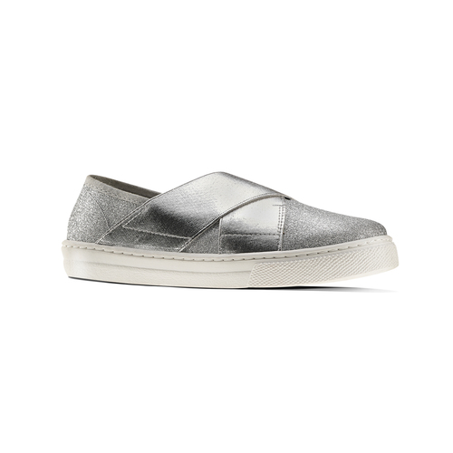 Sneakers silver metallizzate north-star, argento, 329-1305 - 13
