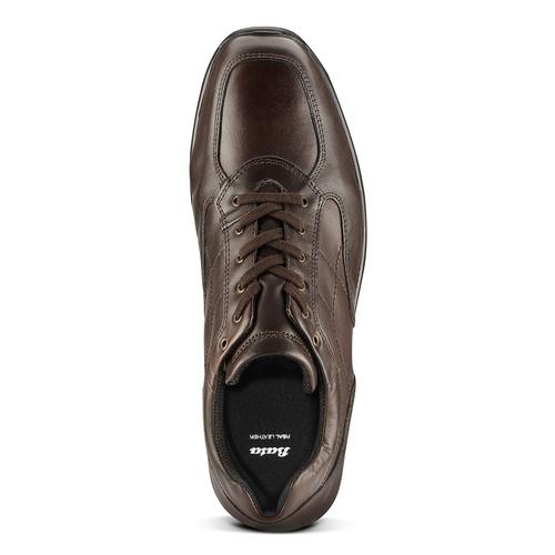 Sneakers in pelle bata, marrone, 844-4325 - 15