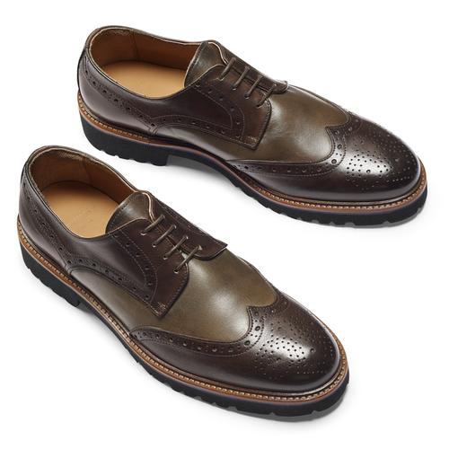 Stringate Derby in pelle bata-the-shoemaker, marrone, 824-4186 - 19
