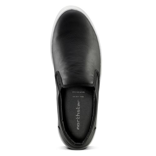 Sneakers nere senza lacci north-star, nero, 831-6111 - 15