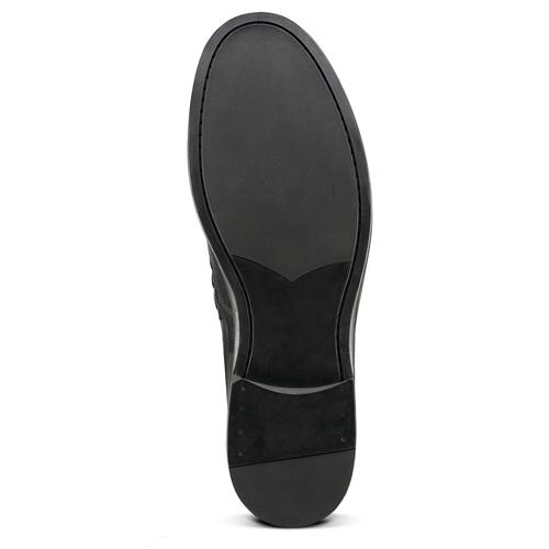 Mocassini in vera pelle bata, nero, 814-6175 - 19