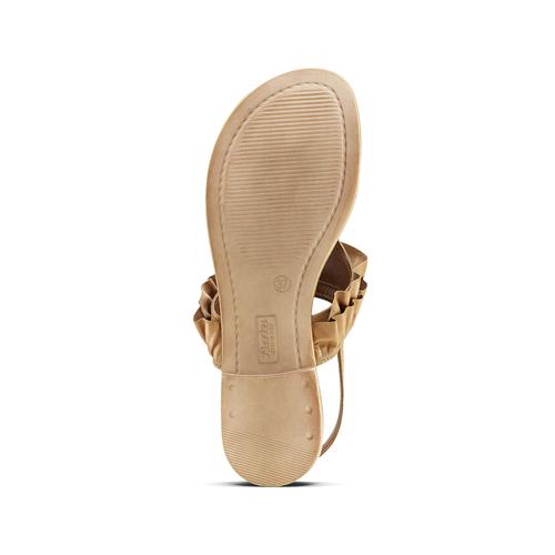 Sandali in pelle con rouches bata, marrone, 564-3118 - 17