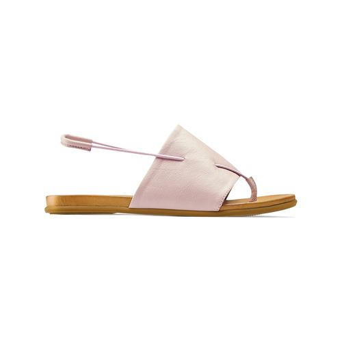 Sandali in pelle rosa bata, rosa, 564-5117 - 26