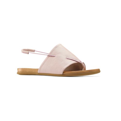 Sandali in pelle rosa bata, rosa, 564-5117 - 13