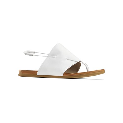 Sandali infradito in pelle bata, bianco, 564-1117 - 13
