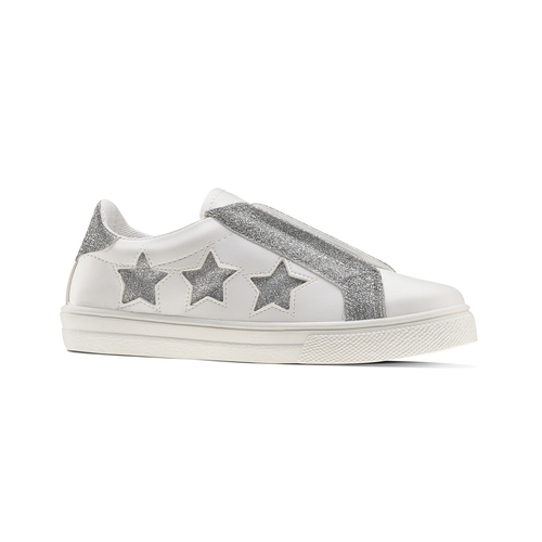 Sneakers bianche con stelle argento, bianco, 324-1306 - 13
