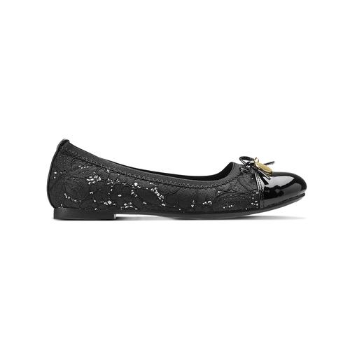 Ballerine pizzo mini-b, nero, 329-6285 - 26