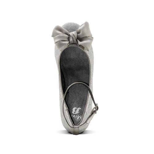 Ballerine glitter con fiocco mini-b, argento, 329-1286 - 15