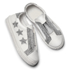 Sneakers bianche con stelle argento, bianco, 324-1306 - 19
