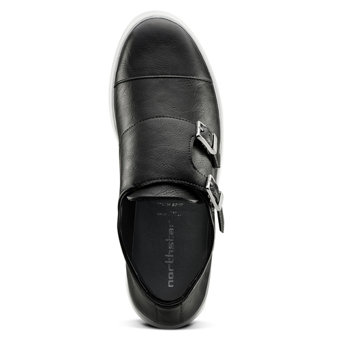 Slip-on nere con fibbie north-star, nero, 831-6110 - 15