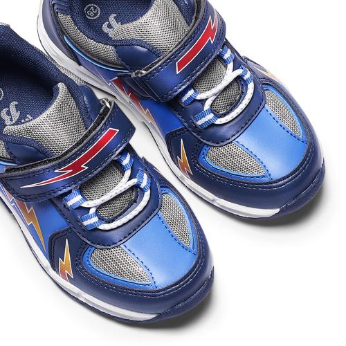 Scarpe basse con luci mini-b, blu, 211-9183 - 19