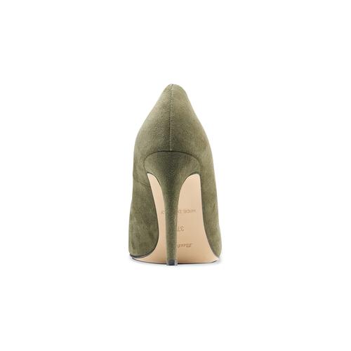 Décolleté in suede con tacco stiletto insolia, verde, 723-7111 - 16