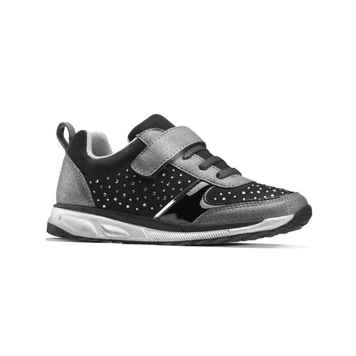Sneakers metallizzate con strap mini-b, nero, 329-6295 - 13