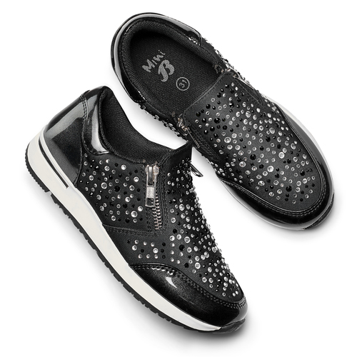 Slip-on con strass mini-b, nero, 329-6289 - 19