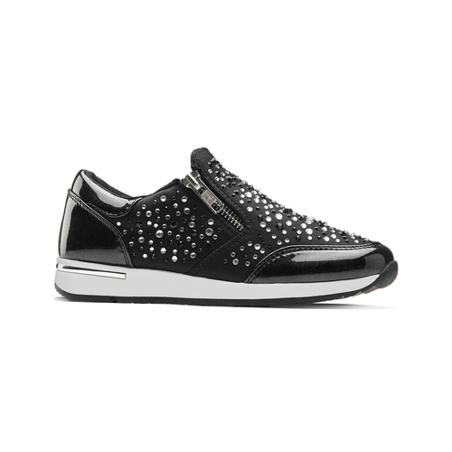 Slip-on con strass mini-b, nero, 329-6289 - 13