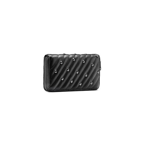 Portafoglio nero con strass bata, nero, 941-6163 - 13