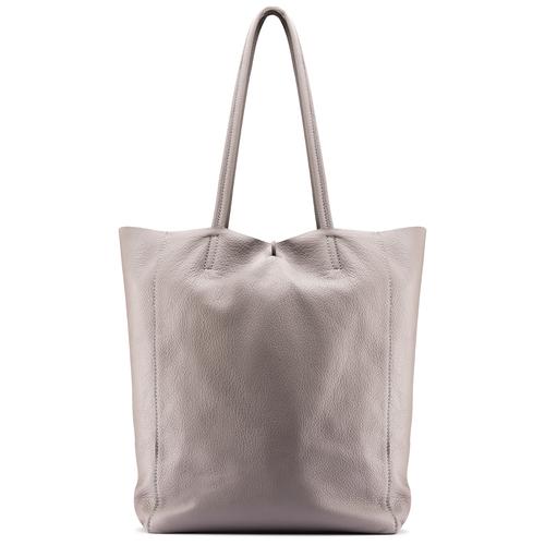 Shopper in Vera Pelle bata, beige, 964-2122 - 26