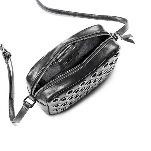 Borsa a tracolla con occhielli bata, nero, 961-6210 - 16