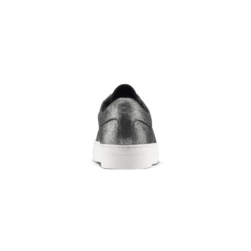 Sneakers metallizzate con lacci in raso north-star, bianco, 543-1359 - 16
