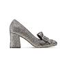 Décolleté silver con tacco largo insolia, grigio, 721-2976 - 26