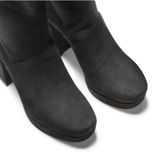 Ankle boots tacco largo bata, nero, 799-6664 - 15