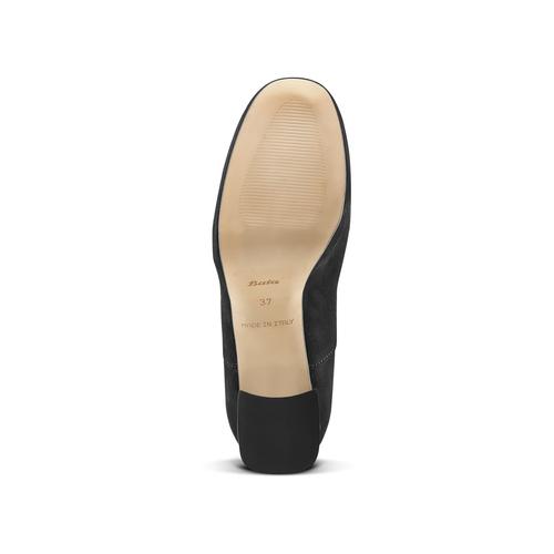 Francesine in suede nera con tacco largo bata, nero, 723-6951 - 17