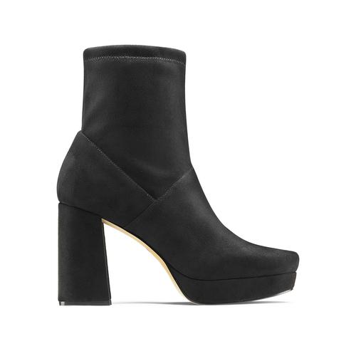 Ankle boots tacco largo bata, nero, 799-6664 - 26