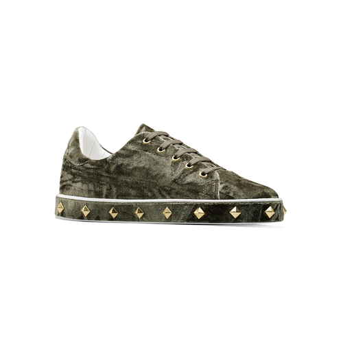 Sneakers in velluto north-star, verde, 549-7112 - 13
