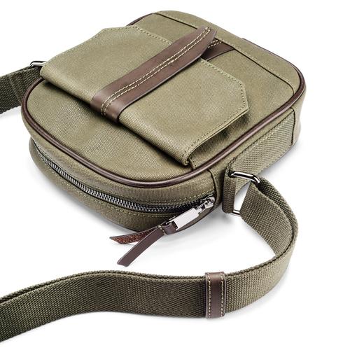 Tracolla da uomo con tasca esterna bata, khaki, 969-7126 - 17