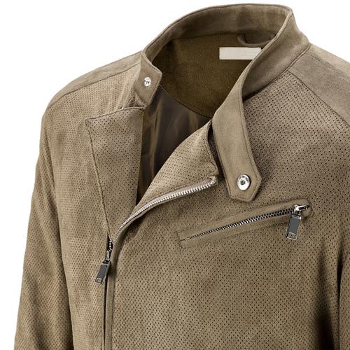 Giacca traforata da uomo con zip asimmetrica bata, beige, 979-7144 - 15