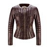 Giacca burgundy in similpelle da donna bata, rosso, 971-5204 - 13