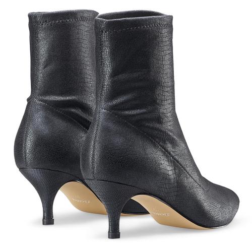 Stivaletti calzino con tacco bata, nero, 699-6171 - 19