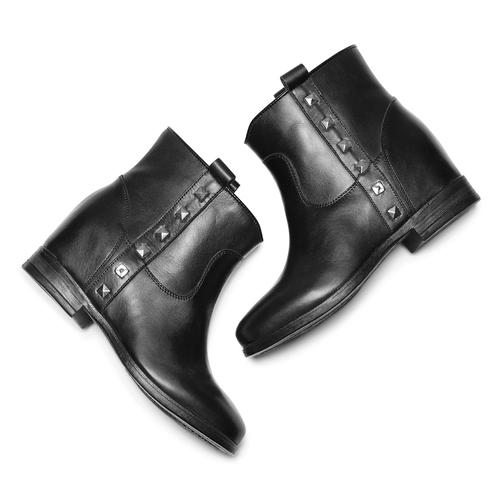 Stivaletti da donna con borchie bata, nero, 694-6410 - 19