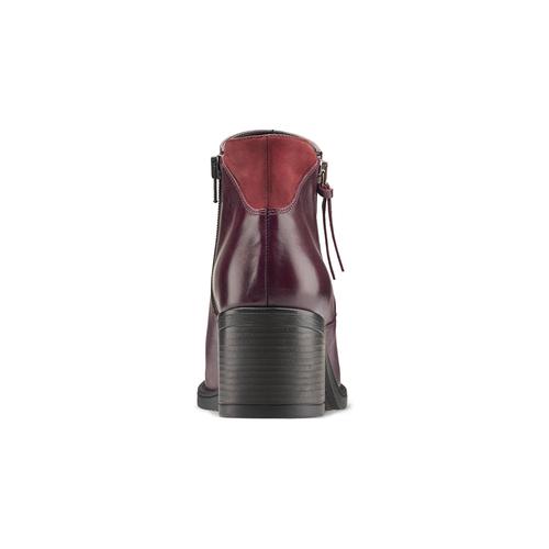 Stivaletti da donna con tacco bata, rosso, 694-5421 - 16