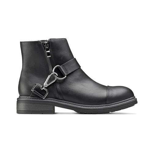 Stivaletti alla caviglia con ganci bata, nero, 591-6155 - 26