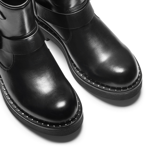 Ankle boots Courtney bata, nero, 591-6143 - 15