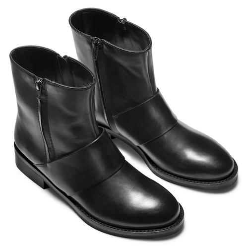 Stivaletti neri in pelle  bata, nero, 594-6330 - 19