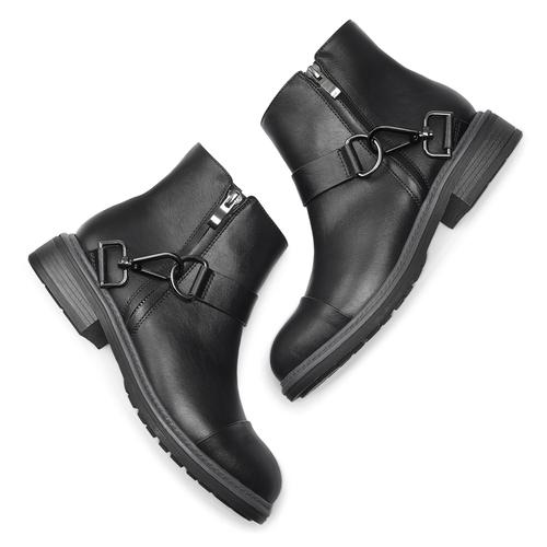Stivaletti alla caviglia con ganci bata, nero, 591-6155 - 19