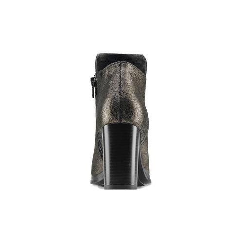 Tronchetti in pelle con tacco bata, nero, 794-6690 - 16