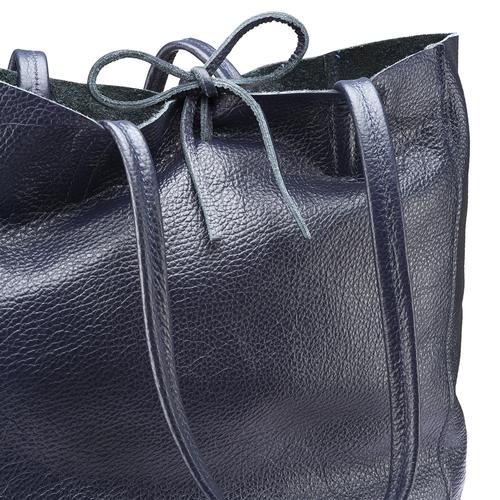 Shopper in Vera Pelle bata, blu, 964-9122 - 15