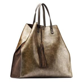 Shopper con borsello e nappina bata, oro, 961-8200 - 13