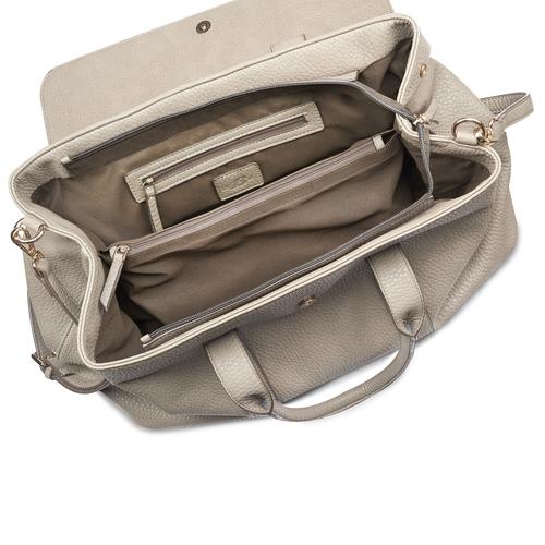 Handbag in similpelle bata, beige, 961-2203 - 16