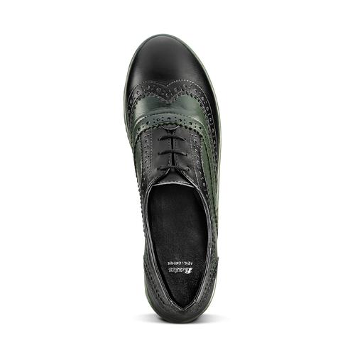 Scarpe basse bicolore bata, verde, 524-7658 - 15