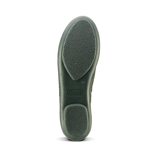 Scarpe basse bicolore bata, verde, 524-7658 - 17