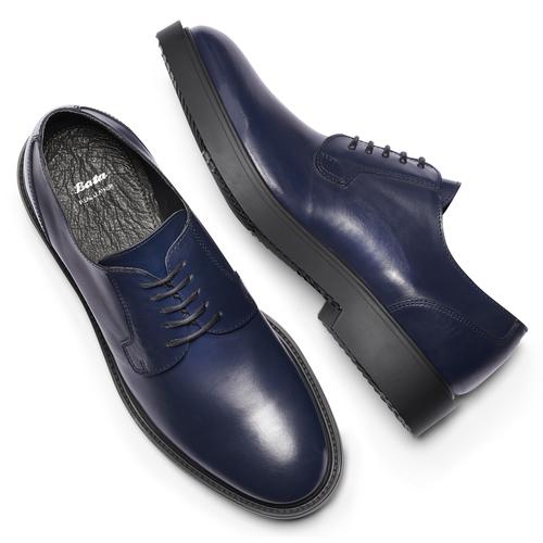 Scarpe derby Robert bata, blu, 824-9157 - 19