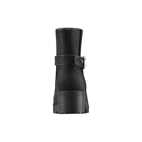 Stivaletti con cinturino incrociato bata, nero, 691-6451 - 15