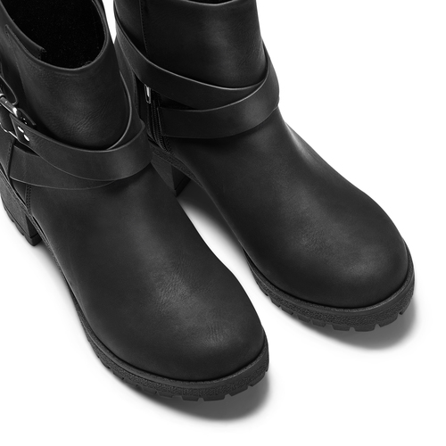 Stivaletti con cinturino incrociato bata, nero, 691-6451 - 17