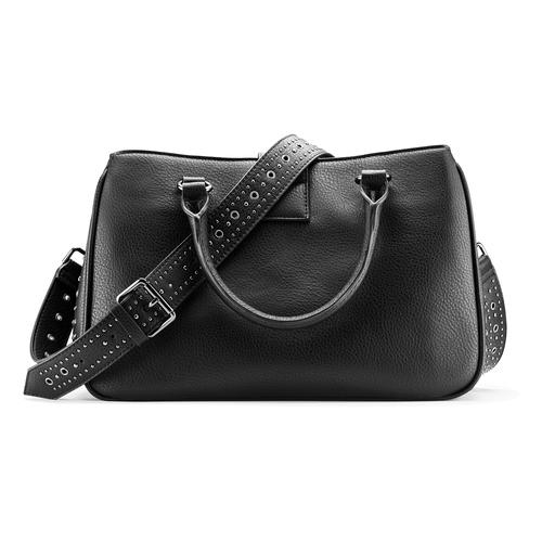 Borsa a mano con borchie bata, nero, 961-6960 - 26