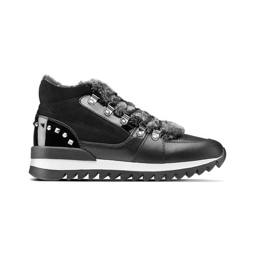 Sneakers da donna dettaglio pelliccia north-star, nero, 549-6318 - 26